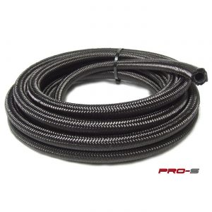 Pro-S Black Nylon Stainless Steel Braided Hoses